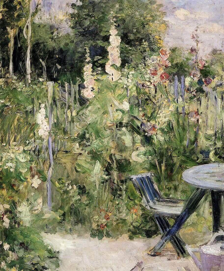 """Stockrosen"" von Berthe Morisot"